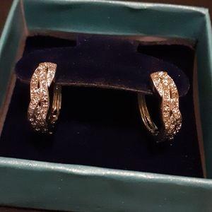 1/4ct Platinum Diamond Infinity Hoop Earrings